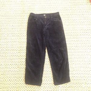 Urban Outfitters Cropped Navy Corduroy Pants
